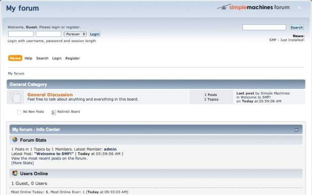 How to start a forum using SimpleMachines Forum