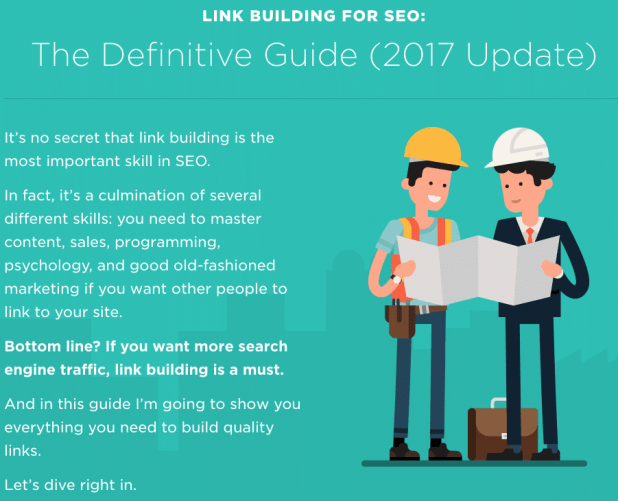 Link building for SEO by Backlinko