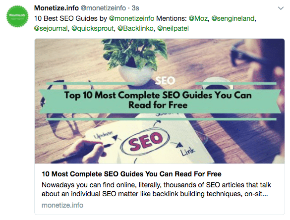 Promote your blog post in Twitter