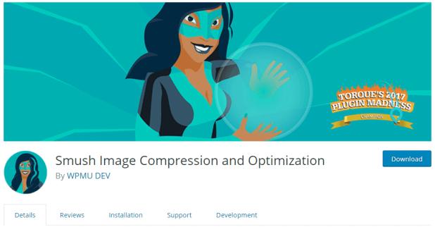 Smush Image Compression and Optimization WordPress Plugins