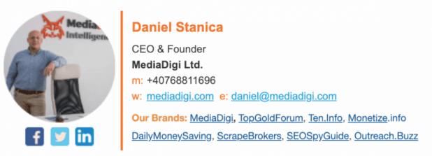 Email Signature Promote Blog