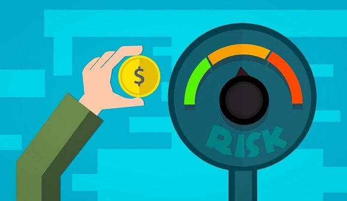 投資するリスクの度合いを示すイラスト