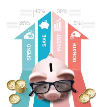 Vector Financial Planning concept. Infographic.