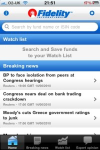Fidelity iPhone App