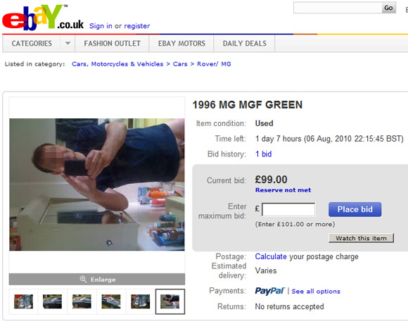 eBay revealing photo
