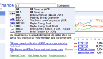 Google Finance UK Launched - Money Watch