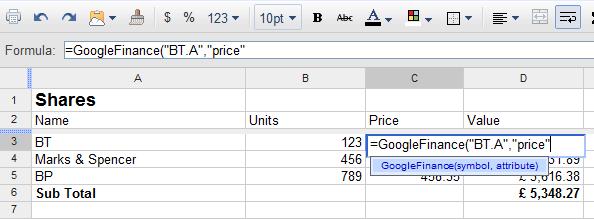 Monitor Your Portfolio In Google Docs - Money Watch