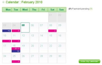 Lloyds Money Manager Calendar
