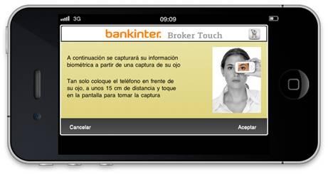 Bankinter iris recognition
