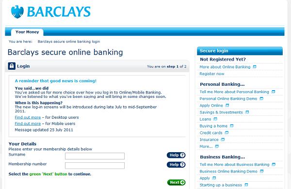 Barclays Personal Banking Uk