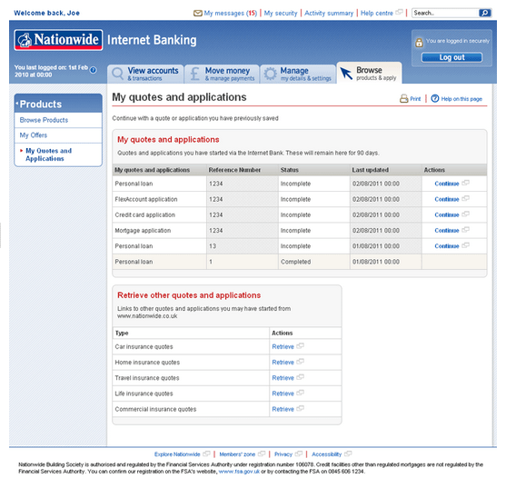 Nationwide online banking