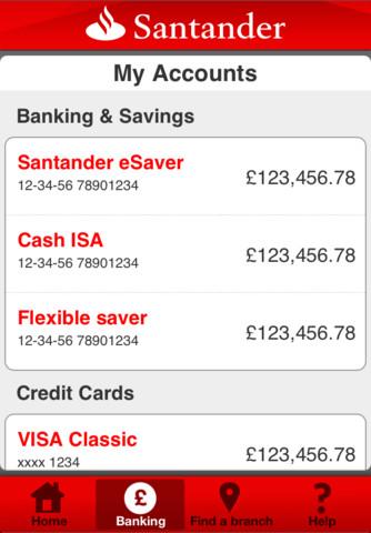 Santander iPhone App