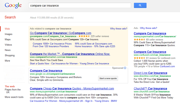 Google Car Insurance Comparison