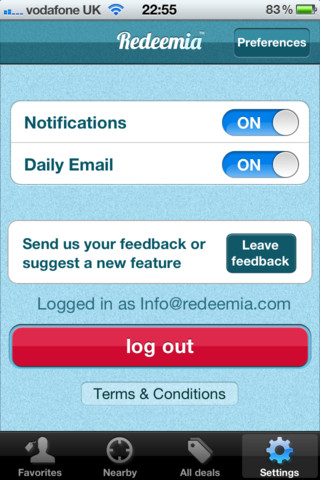 Redeemia Daily Deals App