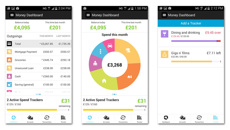Moneydashboard app
