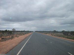 The view we could see ahead while driving the Nullabor