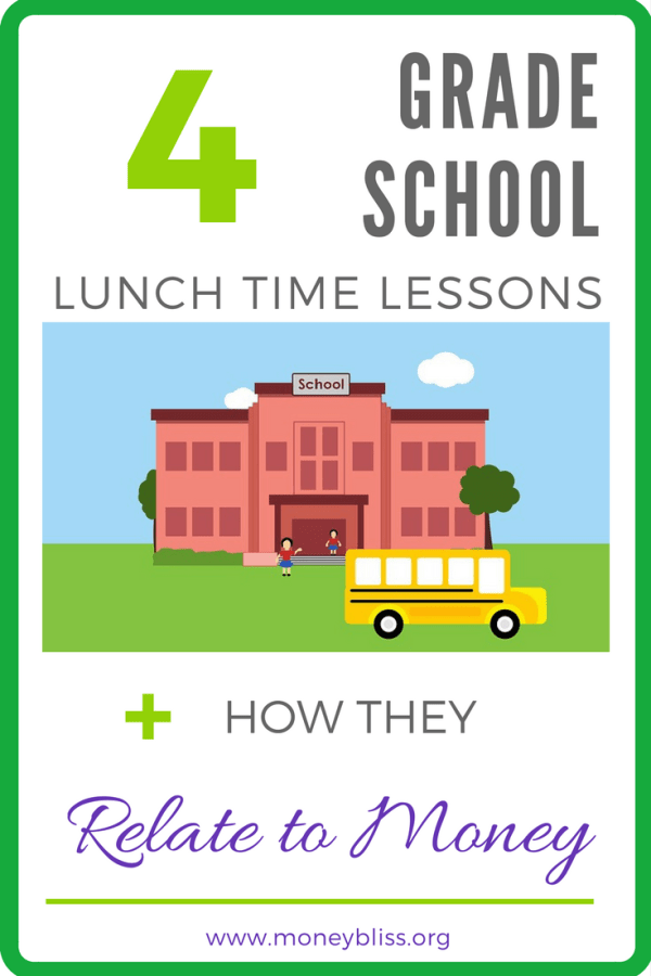 4 Grade School Lunch Time Lessons + How They Related to Money