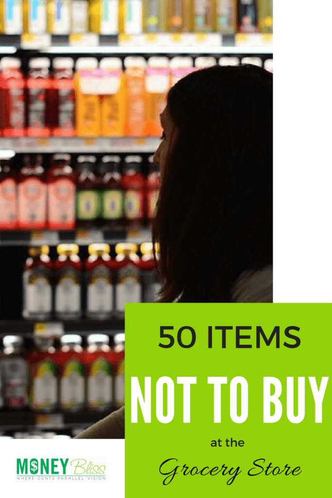 Items not to buy at eat grocery store. What to buy at the grocery store on a budget. Food to buy at the grocery store. Grocery shopping on a budget. Healthy grocery shopping on a budget. What food to avoid buying at the grocery store.