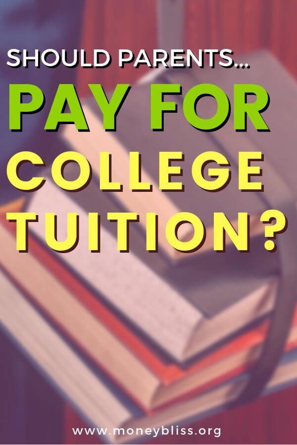 Should parent be saving for college tuition? Understand the truths of cost of education and rise in student debt. Is sacrificing your retirement worth putting your children first? Find full ride college scholarships for juniors and for seniors. Easy way to stay debt free! #college #debt