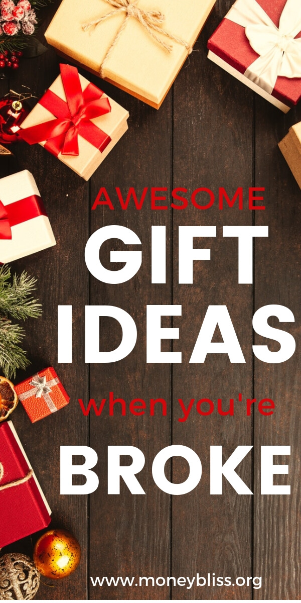 No money for gifts? Find plenty of inspiration for awesome gifts when on a budget. Inexpensive gift ideas for friends and family. #presents #gifts #moneybliss