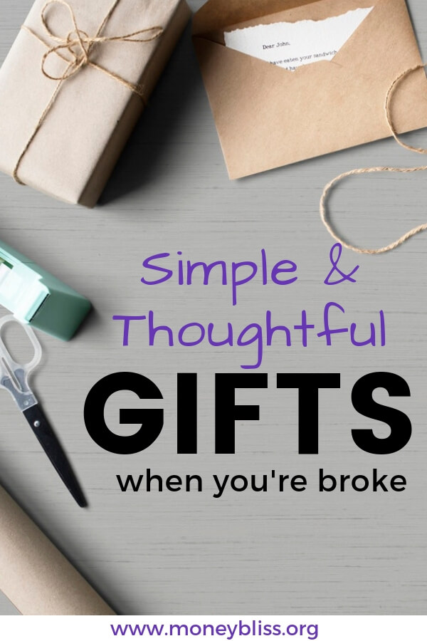 Searching for an unique, simple, and thoughtful gift? Get creative gift ideas for birthday, Christmas, or any holiday. #gift #holiday #moneybliss