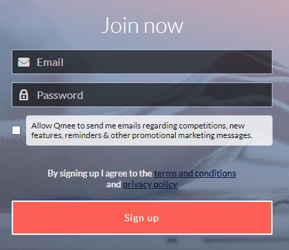 Qmee registration