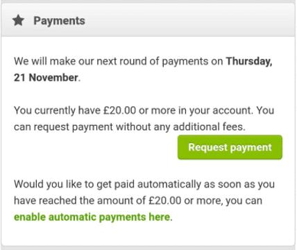 Smartspotter payment options