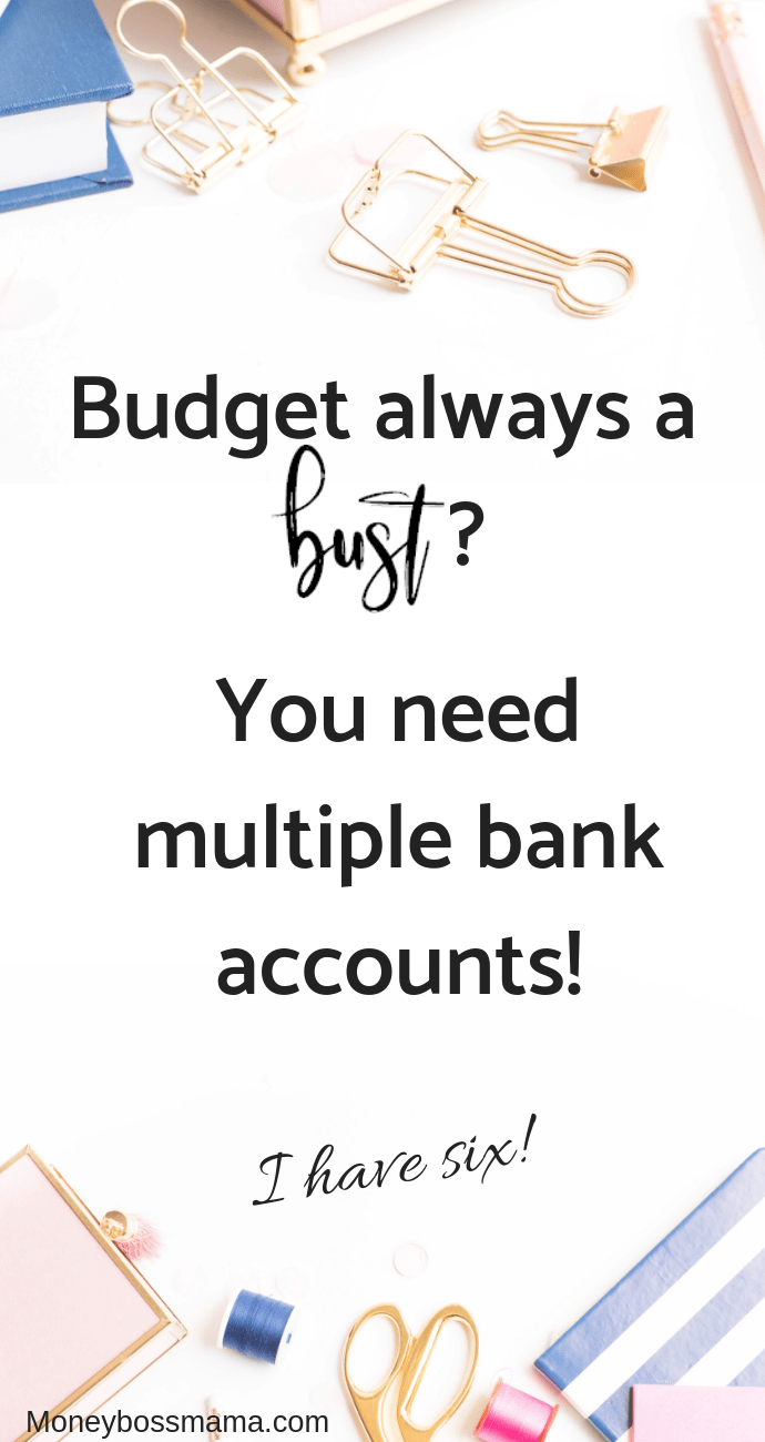 Struggling to stay on budget? I was too before I started using multiple bank accounts! Check out how using multiple accounts can help you manage your finances. #budgeting #multiplebankaccounts #stopspending #managefinances