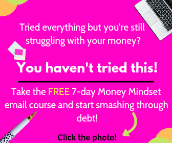 money mindset course to attract more money to pay off debt and save.