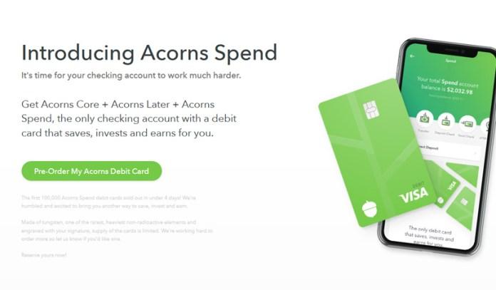 Acorns Spend