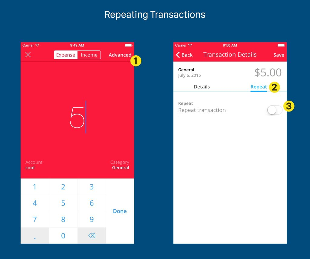New repeating transaction