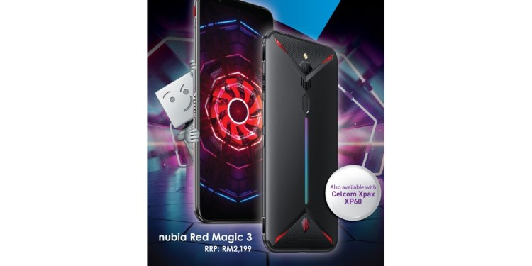 Celcom is thrilled to exclusively offer customers the latest gaming smartphone, the nubia Red Magic 3, especially mobile gaming enthusiasts who are dependent on quality devices with the best 4G LTE network, to meet their online gaming needs.
