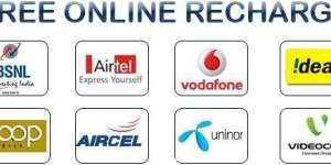 Earn Free Online Recharge from Top 5 Websites