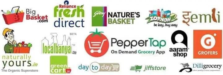 Top 15 Online Grocery Stores (Websites + Apps) in India