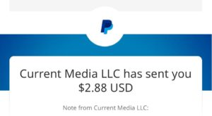 current music app proof of payment