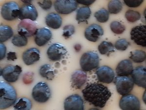 Milk and blueberries priceless moments