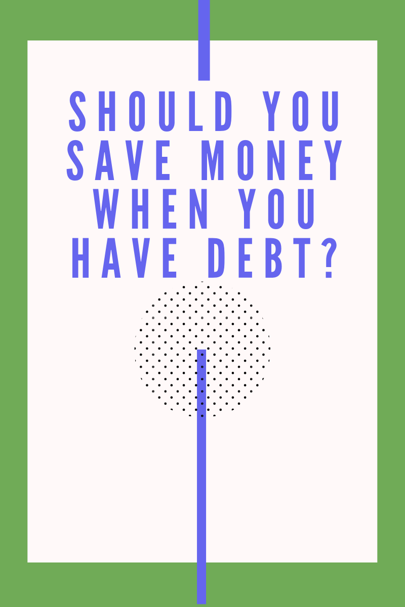 """It can be so frustrating to want a financial answer and continuously read """"It depends"""". So I'm FINALLY answering the question """"Should you save money when you have debt?"""" via @moneygremlin"""