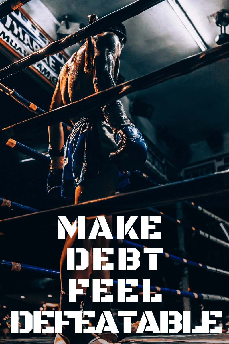 Controlling your mindset can have a massive impact on how successful you are. Consciously change your thinking to defeat your debt. via @moneygremlin