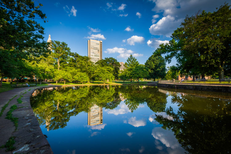 Outdoors at Bushnell Park