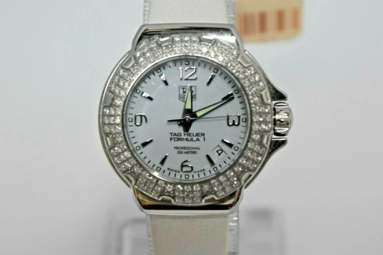 Tag Heuer Formula 1 Glamour Diamond Accented Watch - Ref WAC1215.FC6219