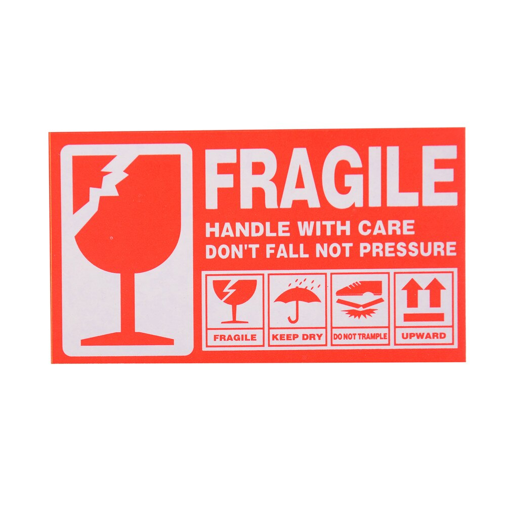 50Pcs Fragile Handle With Care Stickers Labels
