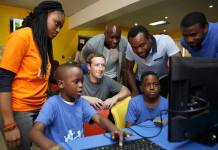 Facebook CEO Mark Zuckerberg in Nigeria