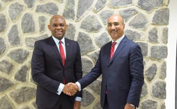 Group Chairman, United Bank for Africa(UBA) Plc, Mr. Tony O. Elumelu(CON) and the new Non-Executive Director, UBA Plc Mr Abdoul-Aziz Dia
