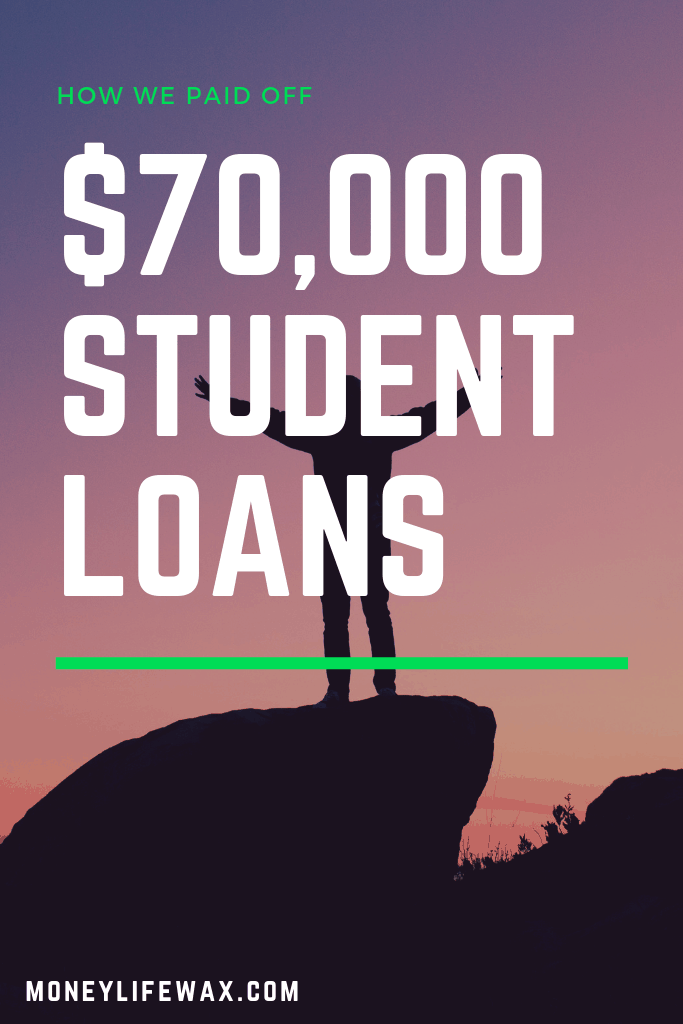 how to pay off 70,000 in student loans