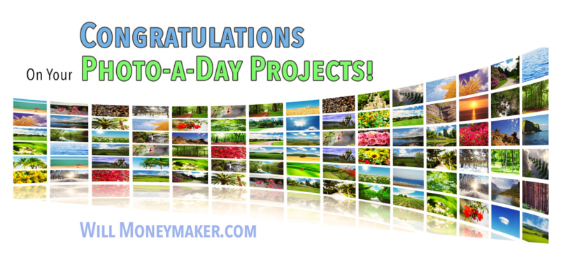 Congratulations On Your Photo-a-Day Projects! New Year, New Projects!