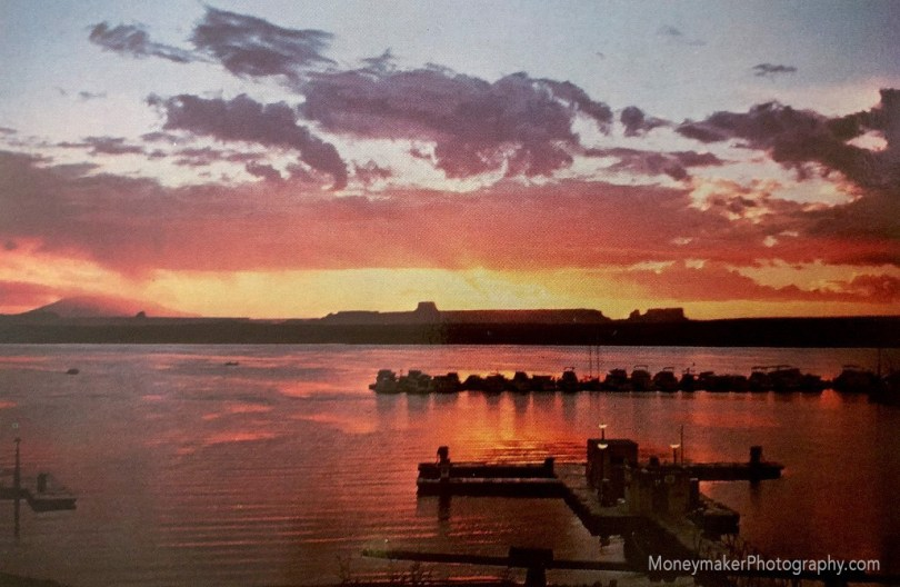 Sunrise Over Wahweap Marina, Lake Powell, Page, Arizona.