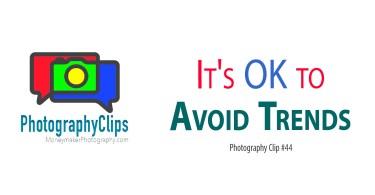 It's OK to Avoid Trends