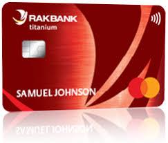 RAK BANK RED CREDIT CARD