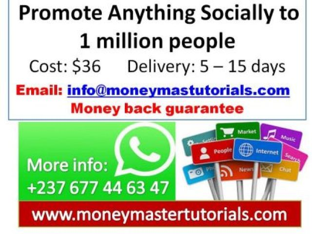 Promote Anything Socially to 1 million people