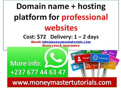 Get a domain name and hosting platform for your professional website